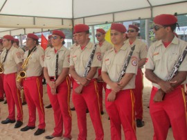 bombeiro banda de musica nos ensaios do concerto de natal 1 270x202 - Corpo de Bombeiros entrega novas instalações da Banda de Música