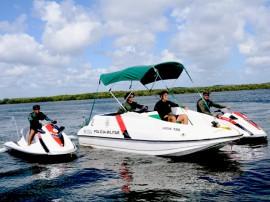 Pelotão Aquático Foto Wagner Varela 270x202 - Pelotão Aquático reduz crimes em áreas ribeirinhas e pontos turísticos