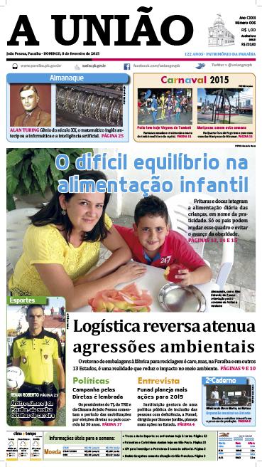 Capa A União 08 02 15 - Jornal A União