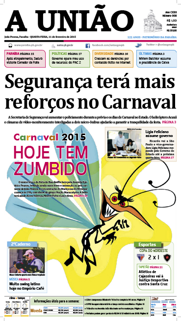 Capa A União 11 02 15 - Jornal A União