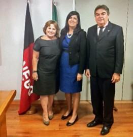 Nilda Gondim Lígia Feliciano e Lindolfo Pires 262x270 - Vice-governadora se reúne com secretários