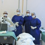 Equipe que acompanhou os procedimentos