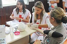 FOTO Ricardo Puppe Ações saude 1BPM 270x180 - Saúde e Polícia Militar lembram Dia Internacional da Mulher com atividades