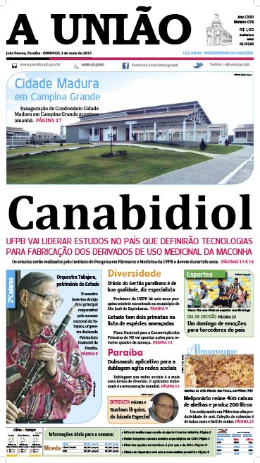 Capa A União 03 05 15 - Jornal A União