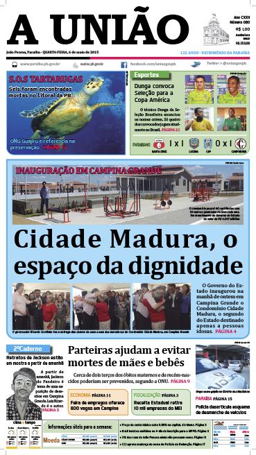 Capa A União 06 05 15 - Jornal A União