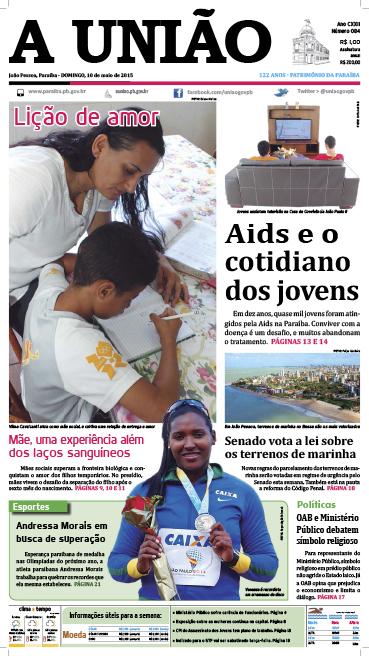 Capa A União 10 05 15 - Jornal A União