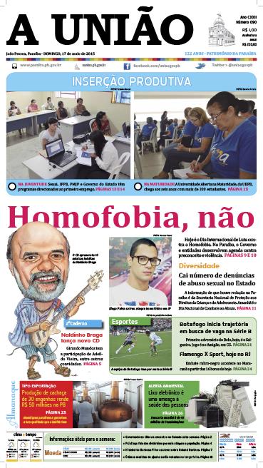 Capa A União 17 05 15 - Jornal A União