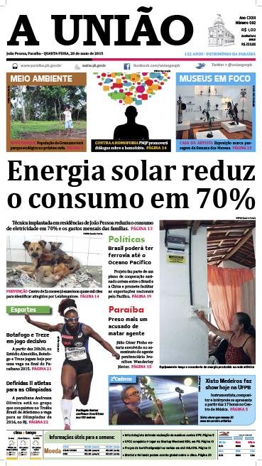 Capa A União 20 05 15 - Jornal A União