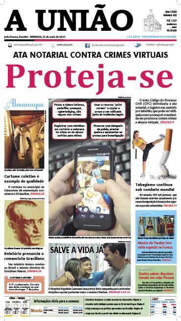 Capa A União 31 05 15 - Jornal A União