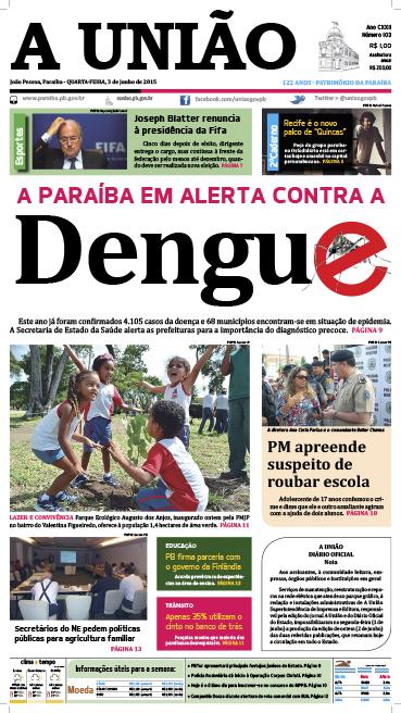 Capa A União 03 06 15 - Jornal A União