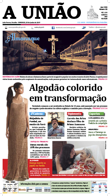 Capa A União 28 06 15 - Jornal A União