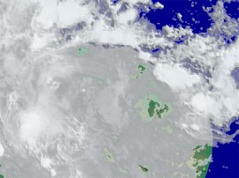 chuvas satelite 270x202 - Aesa prevê fim de semana com chuvas a qualquer hora do dia para a faixa litorânea