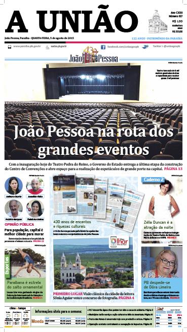 Capa A União 05 08 15 - Jornal A União