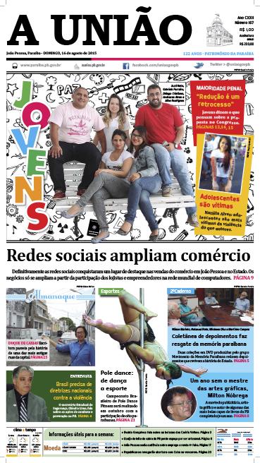 Capa A União 16 08 15 - Jornal A União