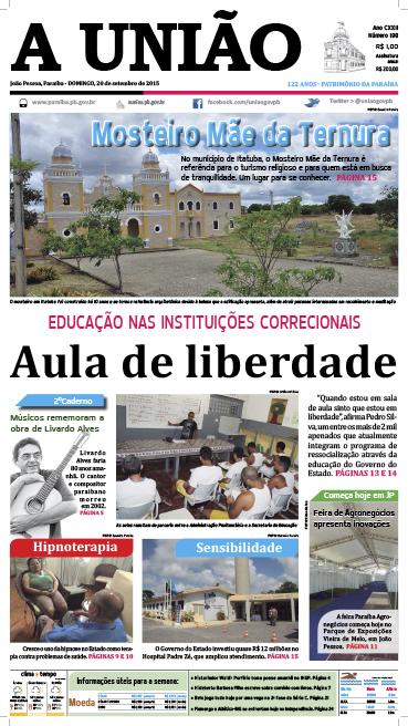 Capa A União 20 09 15 - Jornal A União