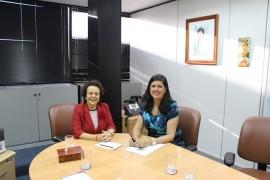 Ligia Feliciano e ministra Eleonora Menicucci 270x180 - Vice-governadora discute com ministra implantação da Casa da Mulher Brasileira na PB