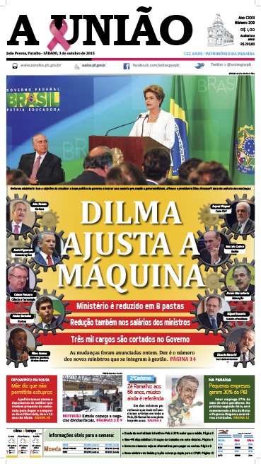 Capa A União 03 10 15 - Jornal A União