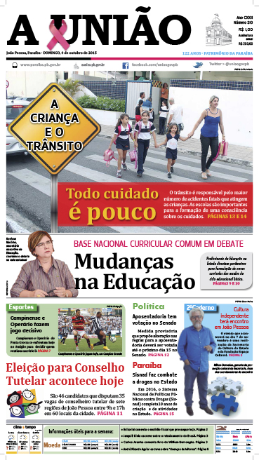 Capa A União 04 10 15 - Jornal A União