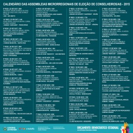 calendario eleicoes1 270x270 - Orçamento Democrático Estadual inicia Assembleias de Eleição de Conselheiros