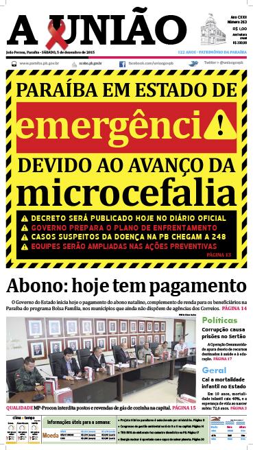 Capa A União 05 12 15 - Jornal A União