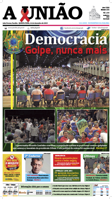 Capa A União 16 12 15 - Jornal A União