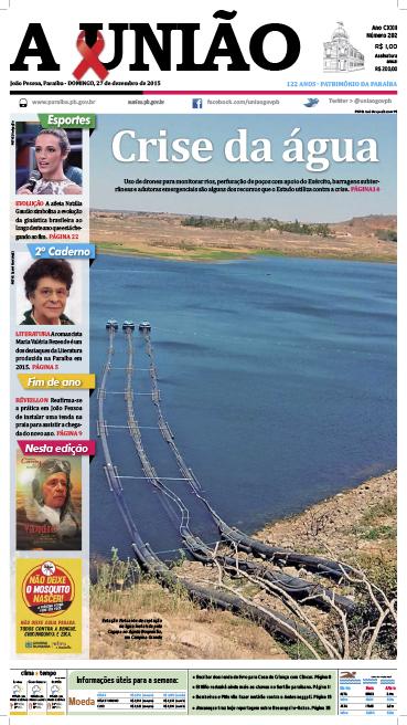 Capa A União 27 12 15 - Jornal A União