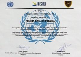 policia civil recebe certificado onu 1 270x191 - Polícia Civil recebe certificado da ONU por atuação no IGF 2015