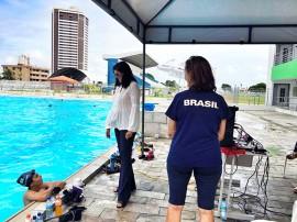 ligia vila olimpica1 270x202 - Lígia Feliciano prestigia treino da Seleção Brasileira de Nado Sincronizado na Vila Olímpica Parahyba