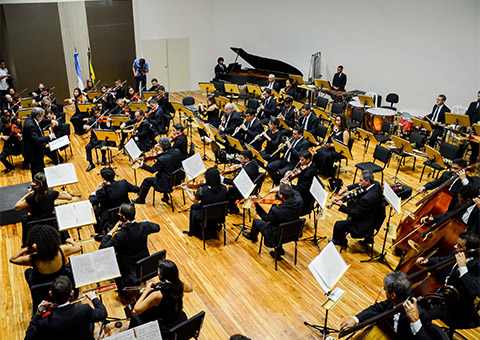 maestro argentino foto walter rafael - Ricardo se reúne com cônsul da Argentina no Concerto Binacional Argentina/Brasil