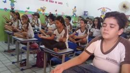 alunos1 270x151 - Prática de meditação em escola estadual da Paraíba repercute nacionalmente