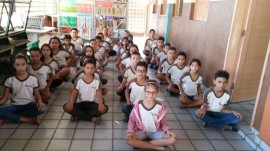 alunos3 270x151 - Prática de meditação em escola estadual da Paraíba repercute nacionalmente