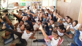 alunos4 270x151 - Prática de meditação em escola estadual da Paraíba repercute nacionalmente