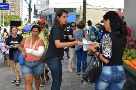 23 09 16 Ação contra tráfico humano Fotos Luciana Bessa 2 270x179 - Mobilização alerta sobre exploração sexual e tráfico de mulheres e crianças