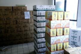 Foto do carga apreendida no Posto de Alcantil 01 270x180 - Posto Fiscal de Alcantil faz nove apreensões de cargas de produtos com nota fiscal irregular