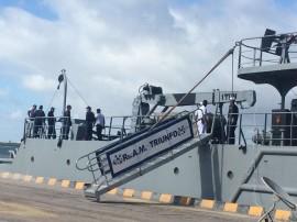 visita navio 270x202 - Centenas de pessoas visitam rebocador da Marinha no Porto de Cabedelo