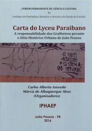 capa da carta do Lyceu 190x270 - Iphaep lança documento sobre ação de pichadores e grafiteiros no Centro Histórico de João Pessoa