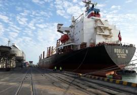 porto de cabedelo recebe navio Roble N com malte 270x188 - Embarcações movimentam Porto de Cabedelo com cerca de 50 mil toneladas de carga