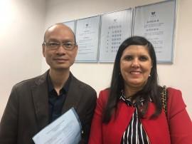 Lígia Departamento de Água Hong Kong 04 270x202 - Na China, Lígia discute utilização da água do mar para uso doméstico e industrial
