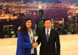 vice gov ligia recebida por empresarios em pequim 1 270x191 - Vice-governadora discute parcerias com autoridades e empresários em Pequim