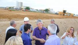 ITAPORANGA ESCOLA VISITA 270x158 - Ricardo inspeciona construção de Escola Técnica e Estação de Tratamento d'água em Itaporanga