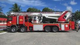Auto Plataforma Aérea para combate a grandes incêndios 270x151 - Corpo de Bombeiros Militar da Paraíba comemora 100 anos de fundação