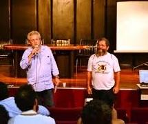 milton dornellas e pedro osmar2 - 'Macacos me Mordam!' ganha formato 'ao vivo' na Fundação Espaço Cultural