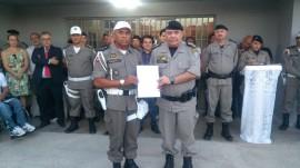 Polícia Militar recebe escritura da nova sede do Pelotão 270x151 - Polícia Militar inaugura novas instalações do 2º Pelotão da 5ª CPTran em Sousa