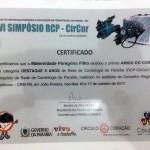 O certificado Amigo do Coração recebidop pela equipe da Maternidade de Patos