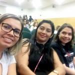 Silvia Felix, Janielly Sousa e Dra. Nicoly Negreiros durante o Simpósio