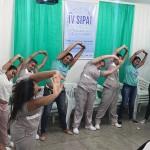 Uma sessão de ginástica laboral marcou o encerramento das atividades do primeiro dia da Sipat