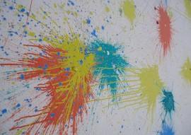 fundac socioeducando mundo das cores 5 270x191 - Socioeducandos fazem mural de arte abstrata com a técnica bomba de tinta
