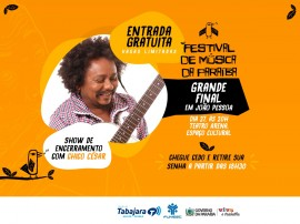 Show de Chico César encerra Festival de Música da Paraíba neste sábado
