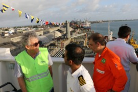 operação ship to ship3 foto Francisco França 270x180 - Ricardo acompanha operação piloto Ship to Ship no Porto de Cabedelo