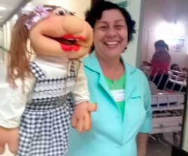 fantoche 270x225 - Fantoche é utilizado no Hospital de Trauma para explicar rotina hospitalar para pacientes e acompanhantes